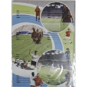 Etichete scolare model fotbal