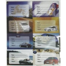 Etichete scolare model masini