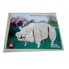 Puzzle lemn porc MS1049-2