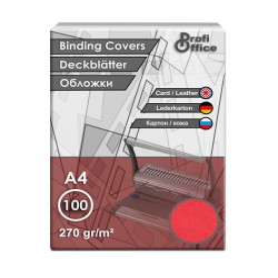 Coperta indosariere A4 carton imitatie piele rosu