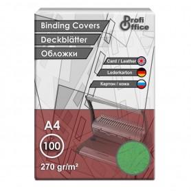 Coperta indosariere A4 carton imitatie piele verde