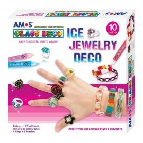 Set creatie AMOS Glass Deco 10 culori Bijuteri