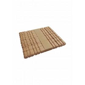 Accesorii creatie COLORARTE lemn betisoare natur cu dinti 11.2cm 50 bucati/set Didactic