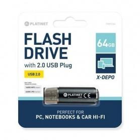 MemoryStick 64GB PLATINET USB 2.0 PMFE64B negru 421171