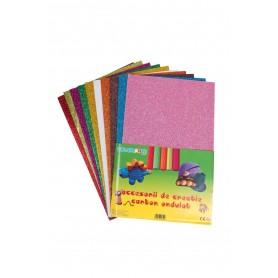 Accesorii creatie COLORARTE hartie gumata A4 2mm cu sclipici diverse culori