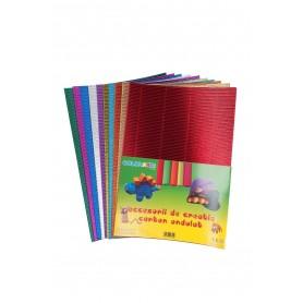 Accesorii creatie COLORARTE carton ondulat A4 diverse culori metal 10/set