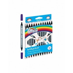 Carioca 12 culori Bimarker Fiorello GR-F816-12 160-2037 2 capete