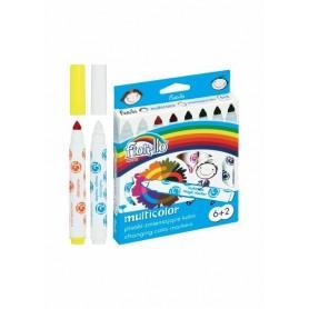 Carioca 6+2 culori Multicolor Fiorello GR-F166-8 160-2035