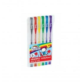 Pix gel cu sclipici Fiorello 160-1810 diverse culori 6 bucati/set