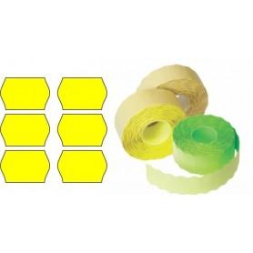 Etichete rola 26x16mm galben