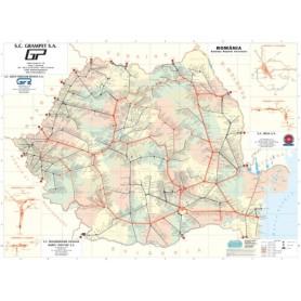 Harta ROMANIA administrativ-rutiera