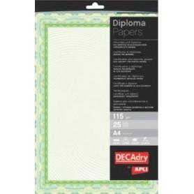 Hartie A4 Diploma verde