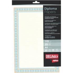 Hartie A4 Diploma orange/albastru