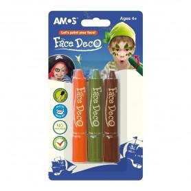 Face Deco AMOS Pirat 3 culori/set