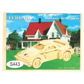 Puzzle lemn -S- masina Ferrari P065A