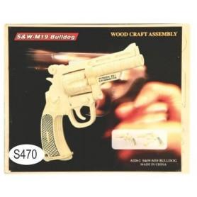 Puzzle lemn -S- pistol A028-2