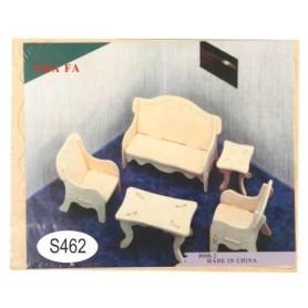 Puzzle lemn -S- sufragerie P008-2