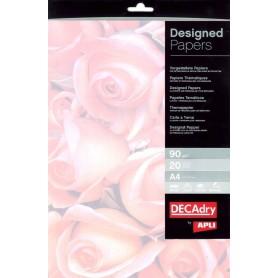 Hartie A4 model trandafiri