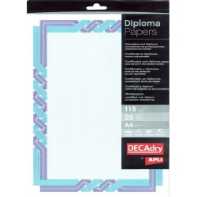 Hartie A4 Diploma albastru/cyan