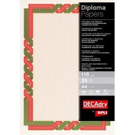 Hartie A4 Diploma rosu/verde