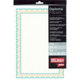 Hartie A4 Diploma orange/turquaz