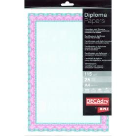 Hartie A4 Diploma turquaz/grena
