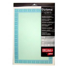 Hartie A4 Diploma verde/smarald