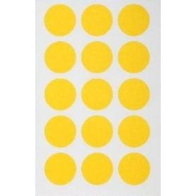 Etichete rotunde 15/A6 d. 19mm Agipa 111963 galben