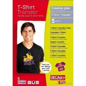 Hartie transfer tricouri culori inchise A4