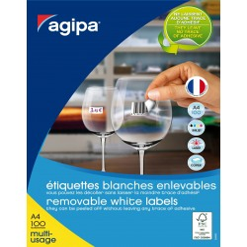 Etichete 1/A4 210x297mm nepermanente Agipa 128993