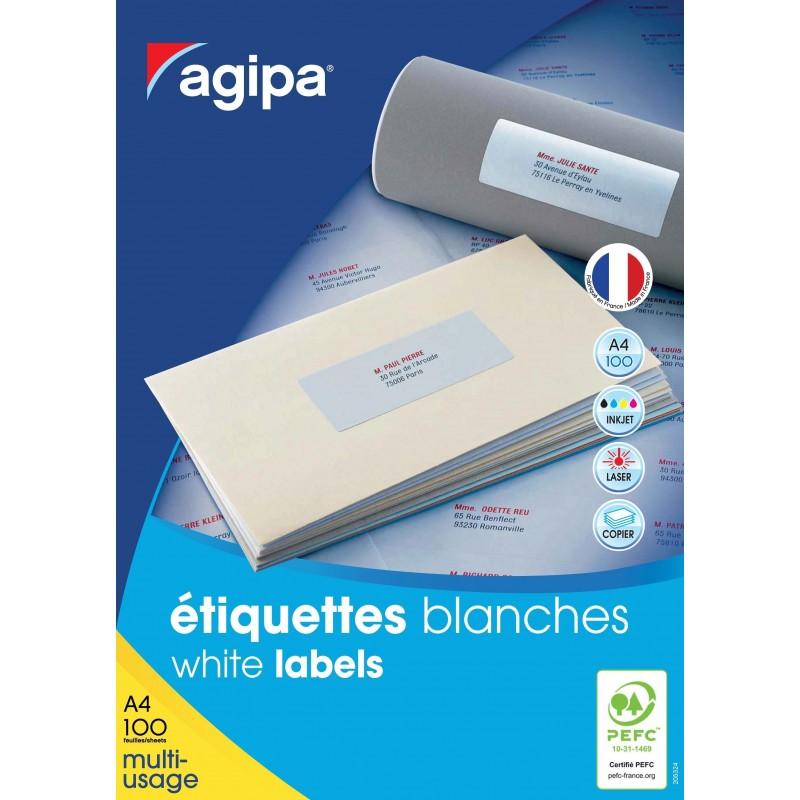 Etichete 10/A4 105x57mm 100 coli Agipa 101134