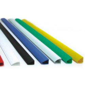 "Sina ""u"" plastic 10mm Office-Cover negru 100 bucati/set"