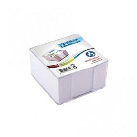 Cub hartie alb 8,5x8,5 500 coli ARK 567-1 + suport plastic transparent fumuriu