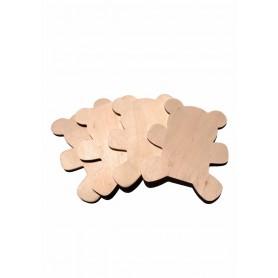 Accesorii creatie COLORARTE lemn ursuleti 4/set Didactic