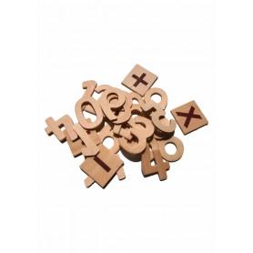 Accesorii creatie COLORARTE lemn cifra 2.4x4.5 didactic 25 bucati
