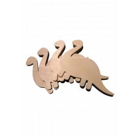 Accesorii creatie COLORARTE lemn: dinozauri didactic 4 bucati/set