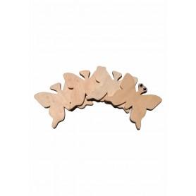 Accesorii creatie COLORARTE lemn: fluturi didactic 4 bucati/set