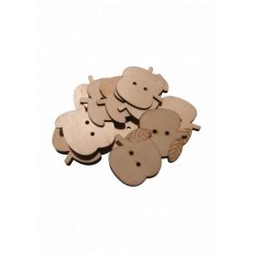 Accesorii creatie COLORARTE lemn: mar didactic 12 bucati/set