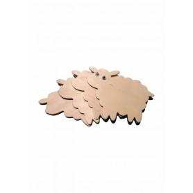Accesorii creatie COLORARTE lemn: oi didactic 4 bucati/set