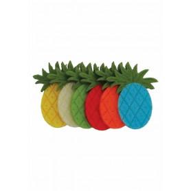 Accesorii creatie COLORARTE fetru ananas 6 bucati/set