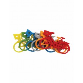 Accesorii creatie COLORARTE fetru bicicleta 6 bucati/set