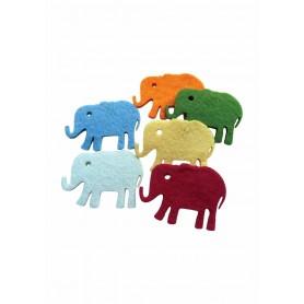 Accesorii creatie COLORARTE fetru elefant 6 bucati/set