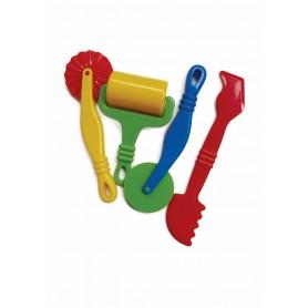 Accesorii creatie COLORARTE unelte plastic pentru modelaj plastelina 4 bucati/set mare Didactic