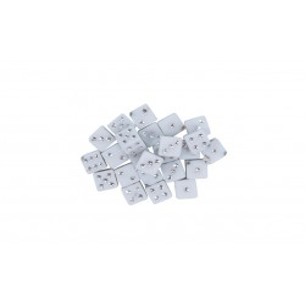 Accesorii creatie COLORARTE plastic zaruri 5mm alb 50 bucati/set