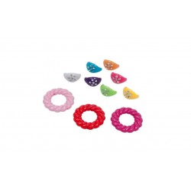 Accesorii creatie COLORARTE plastic bijuterii 20mm diverse culori 40 bucati/set