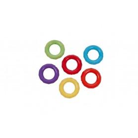 Accesorii creatie COLORARTE plastic inele 30mm diverse culori 10 bucati/set