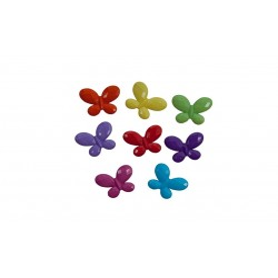 Accesorii creatie COLORARTE plastic fluture 10mm diverse culori 10 bucati/set