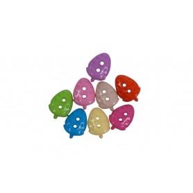 Accesorii creatie COLORARTE plastic nasturi capsuna 10mm diverse culori 50 bucati/set