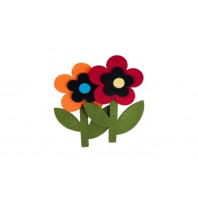 Accesorii creatie COLORARTE fetru floare 2 bucati/set