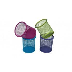 Suport instrumente de scris OFFICE COVER 3504 plasa metalica cilindric diverse culori